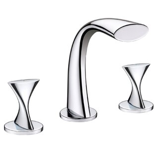 Ultra Faucets Double Handle Bathroom Widespread Faucet