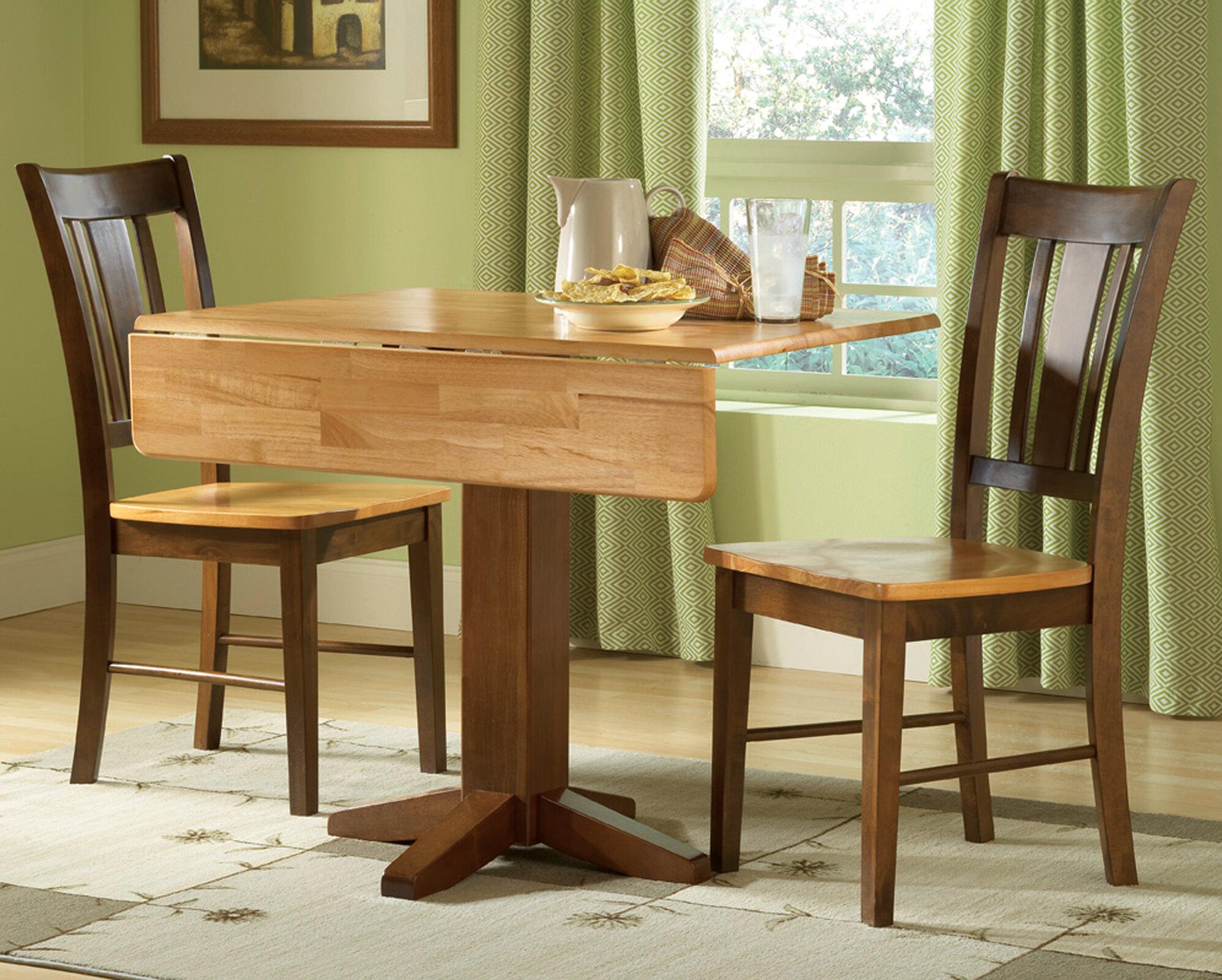 Pine Haven 3 Piece Drop Leaf Solid Wood Dining Set