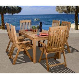 Beachcrest Home Elsmere 7 Piece Teak Dining Set