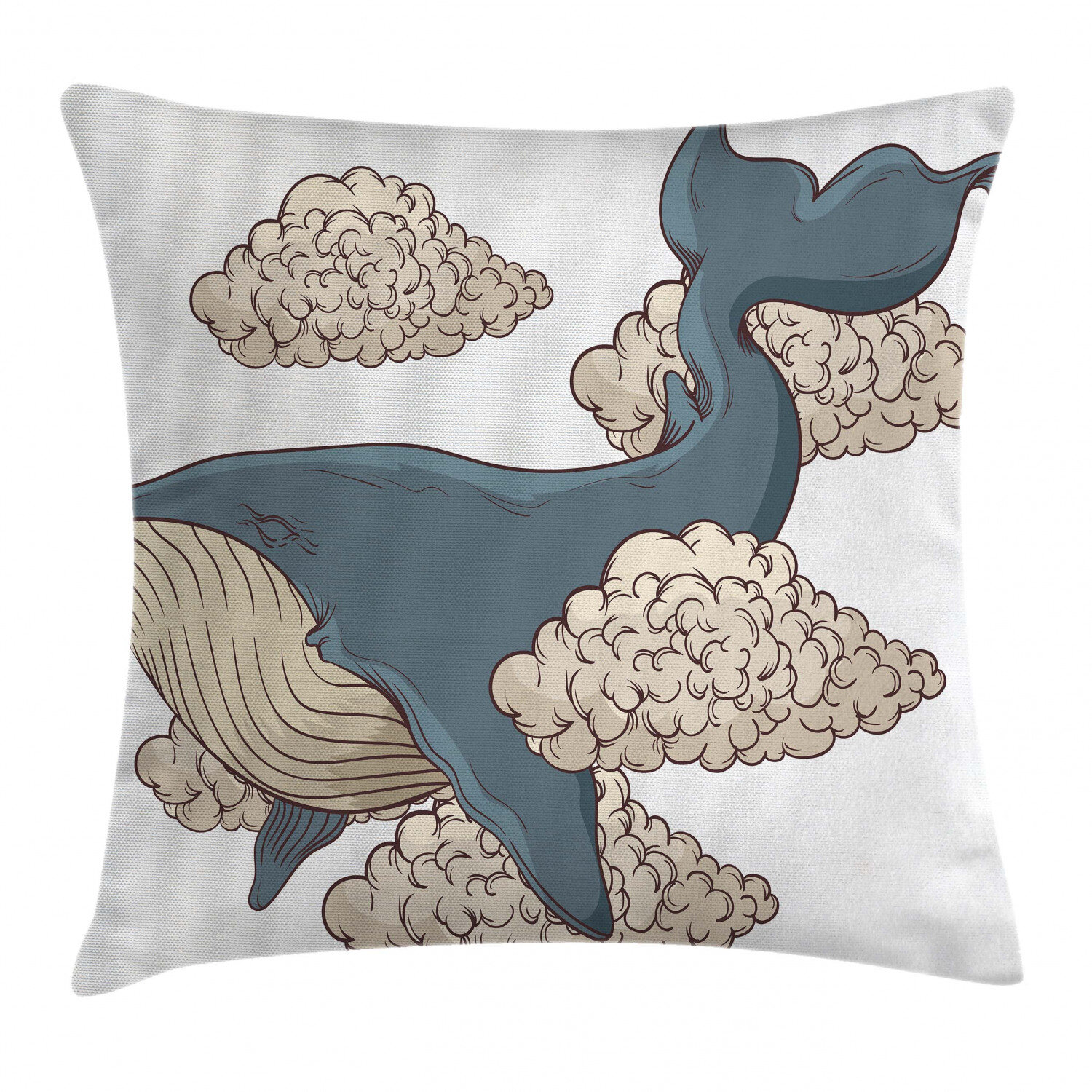 East Urban Home Whale Indoor Outdoor 36 Throw Pillow Cover