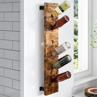 Madilyn 6 Bottle Wall Mounted Wine Bottle..