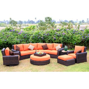 Serenity 8 Piece Sunbrella Sectional Set with Cushions by World Wide Wicker