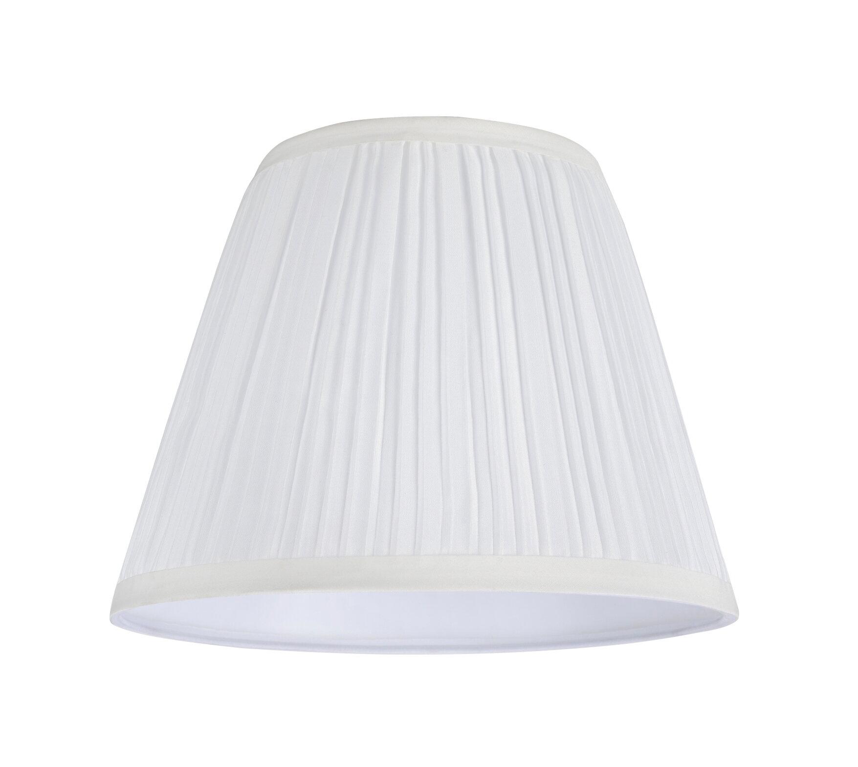 Aspen Creative Corporation 7 H Tetoron Cotton Fabric Empire Lamp Shade Spider In Off White Wayfair
