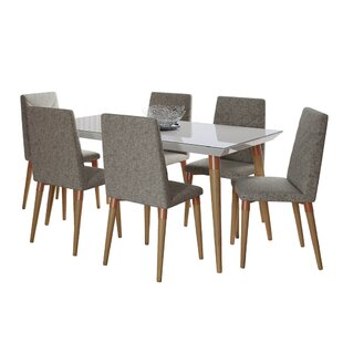 Lemington 7 Piece Solid Wood Dining Set George Oliver