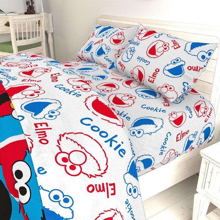 Elmo Cookie Squares Twin Sheet Set