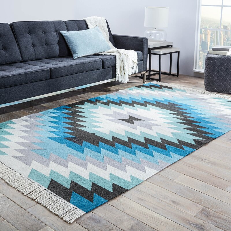 Birch Lane™ Valentina Blue Indoor/Outdoor Rug & Reviews | Wayfair