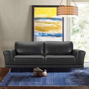 Randalholme Contemporary Leather Sofa