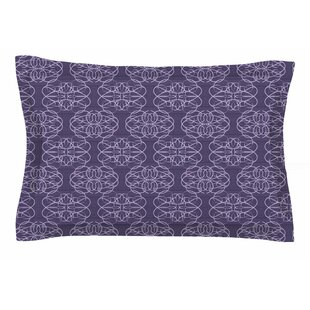 Mydeas 'Purple Scroll Damask' Vector Sham