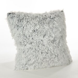loraine solid faux fur throw pillow