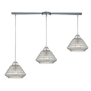Toothman 3-Light Cluster Pendant by Brayden Studio