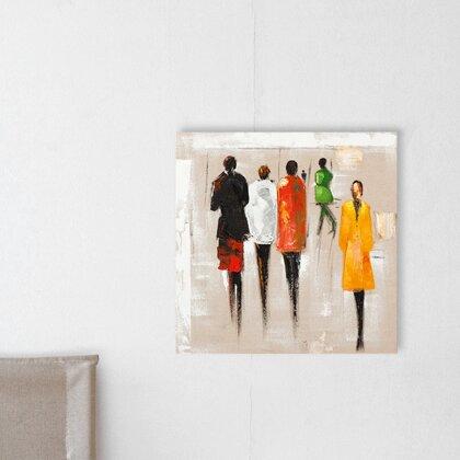 Leinwandbild Figuren | Dekoration > Bilder und Rahmen > Bilder | Vintage Boulevard