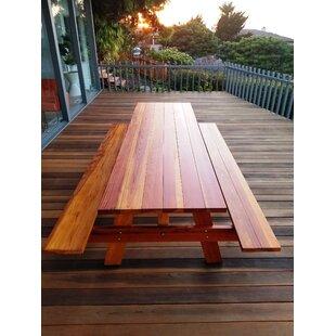 Threadgill  Solid Wood Picnic Table by Brayden Studio