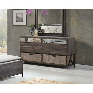 Pataskala Wood 5 Drawer Double Dresser