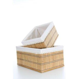 Goshen 2 Piece Bamboo Basket Set By Bay Isle Home