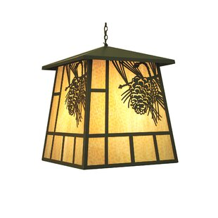 Loon Peak Wyndham Winter Pine 4-Light Lantern Pendant