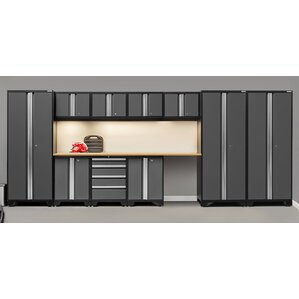 bold 30 series 12piece garage storage cabinet set with worktop