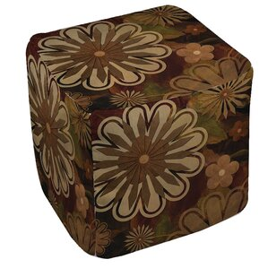Floral Abstract 1 Ottoman by Manual Woodworkers & Weavers