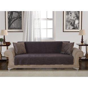 Diamond Anti-Slip Pet Furniture Protector Box T-Cushion Sofa Slipcover by Red Barrel Studio