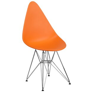 Wrought Studio Ressler Teardrop Plastic Dining Chair