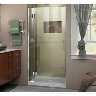 DreamLine Unidoor-X 34 in. W x 72 in. H Frameless Hinged Shower Door