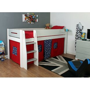 Eugenia European Single Mid Sleeper Bed With Curtain By Harriet Bee