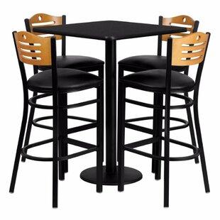 Plattville 5 Piece Pub Table Set