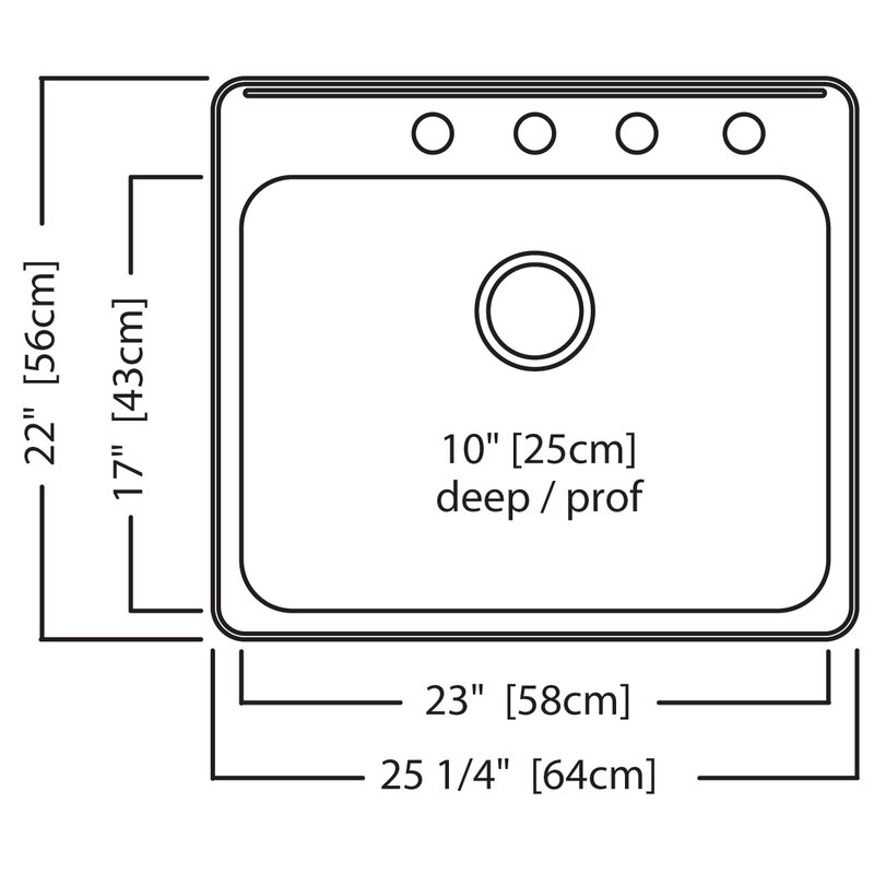 Kindred 25 63 L X 22 06 W Undermount Bar Sink Wayfair