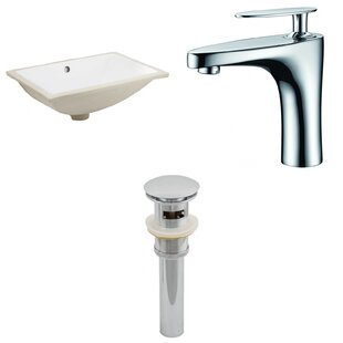 Great Price CUPC Ceramic Rectangular Undermount Bathroom Sink with Faucet and Overflow ByRoyal Purple Bath Kitchen