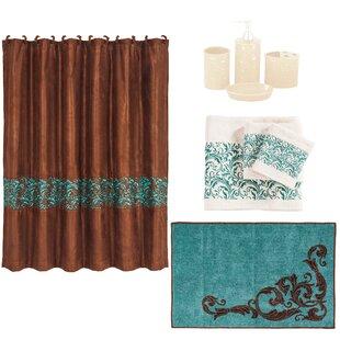 Wyatt 21 Piece Shower Curtain Set