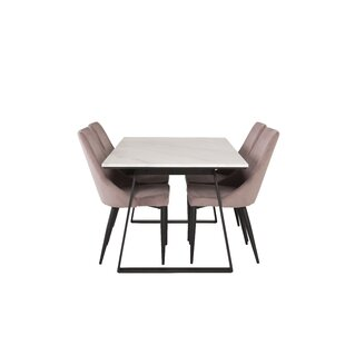 Withernsea Dining Set With 4 Chairs By Canora Grey