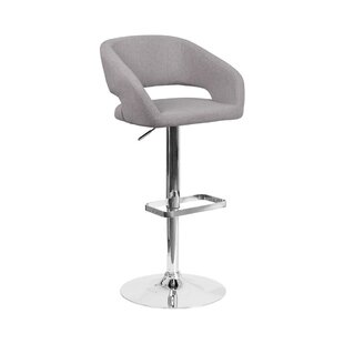 Price Check Zackary Adjustable Height Swivel Bar Stool by Orren Ellis Reviews (2019) & Buyer's Guide