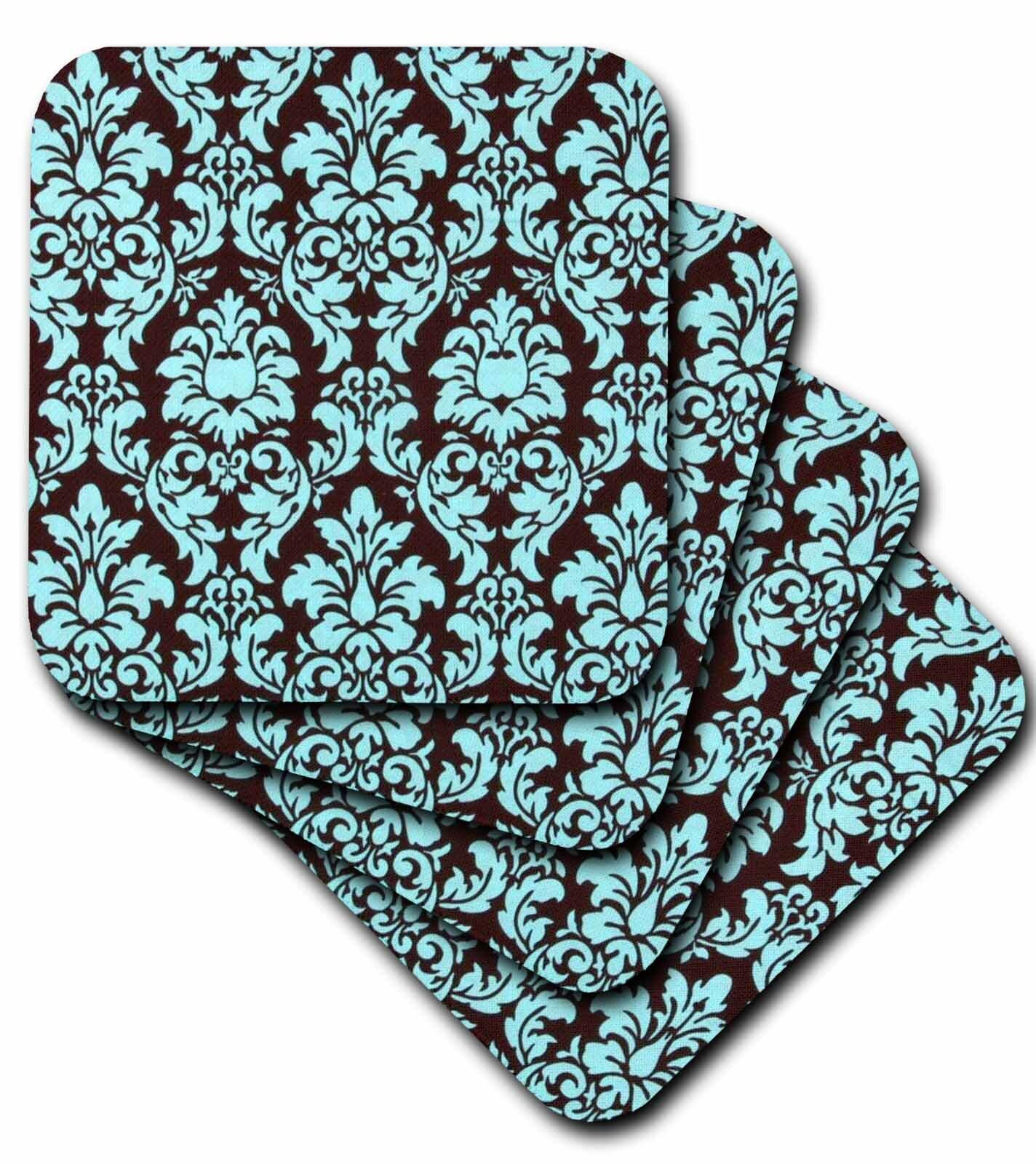 House Of Hampton Damask Ceramic Tile Coaster Wayfair