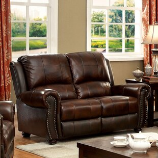 Darby Home Co Fitzgibbons Transitional Leather Loveseat