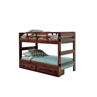 Pearlie Twin Bunk Bed with Drawers
