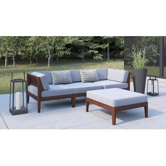 Ostro 4 Piece Rattan Sofa Seating Group With Cushions Reviews Allmodern