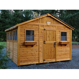 Outdoor Living Today Sunshed 12 ft. W x 12 ft. D Wooden Storage Shed