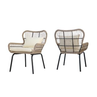 Chess Patio Chair with Cushions (Set of 2)