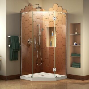 Prism Plus 36 inch  x 74.75 inch  Rectangle Hinged Shower Enclosure with Base Included