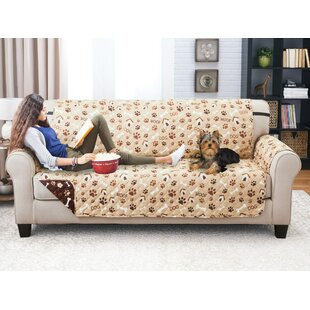 Winston Porter Printed T-Cushion Sofa Slipcover