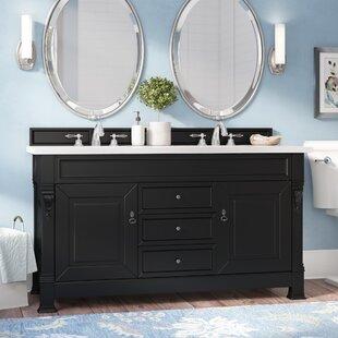 Bedrock 60 Double Antique Black Bathroom Vanity Set by Darby Home Co