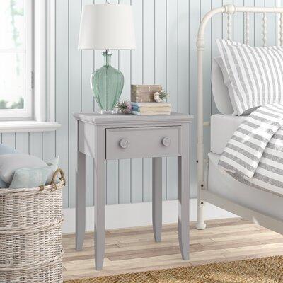 Baileyville 1 Wood Drawer Nightstand by Beachcrest Home