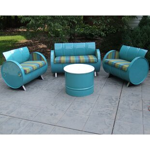 Astoria Lagoon 4 Piece Sunbrella Sofa Set with Cushions
