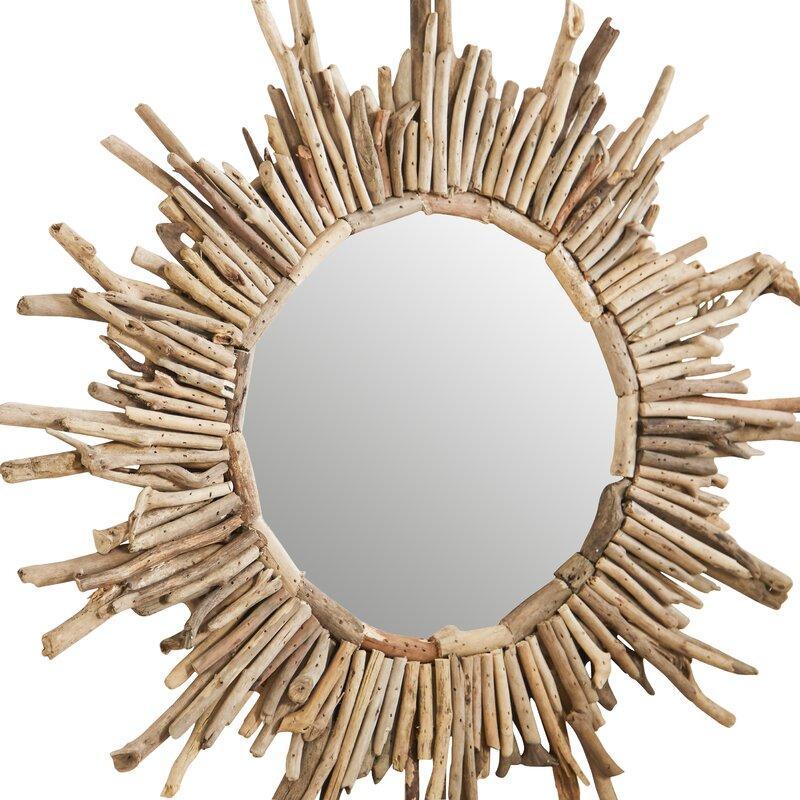 Driftwood Sunburst Mirror #sunburst #driftwood #beachydecor #beachhouse