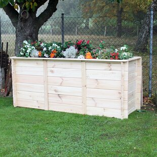 Wooden Raised Flower Bed By Freeport Park