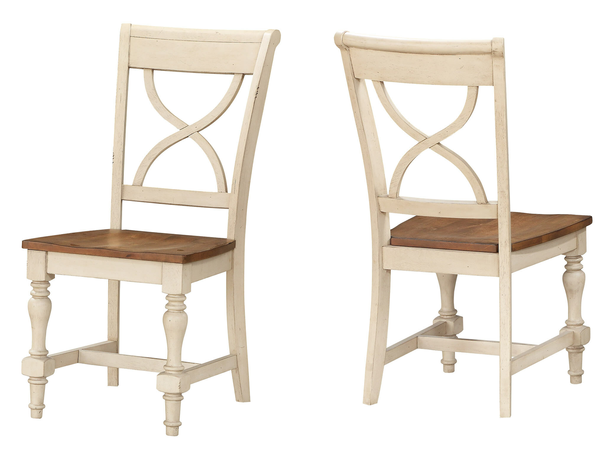 August Grove Chincoteague X Back Solid Wood Dining Chair Reviews Wayfair