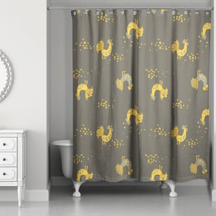 Hamil Rooster Single Shower Curtain