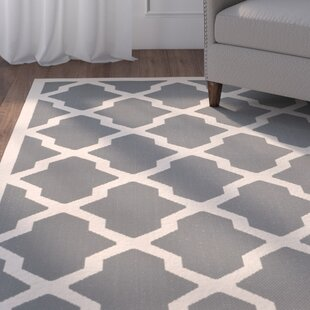 Short Dark Gray Indoor/Outdoor Area Rug