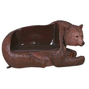 Brawny Grizzly Bear Garden Bench by Design Toscano
