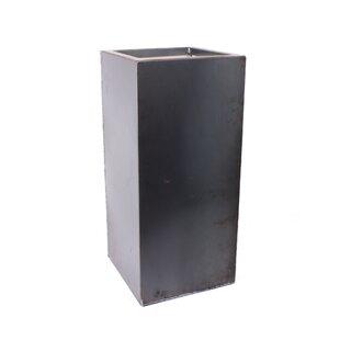 Veradek Metallic Series Pedestal Corten Steel Pot Planter
