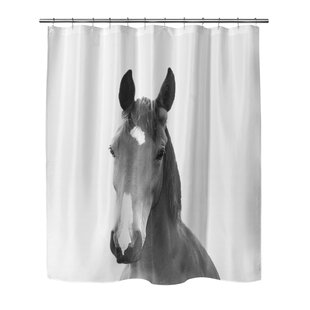 Giusti Horse Single Shower Curtain